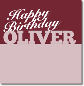 Oliver Birthday Card