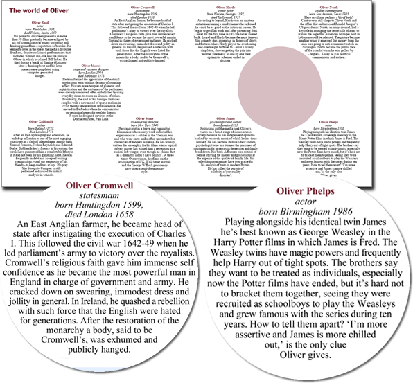 Inside of oliver birthday card