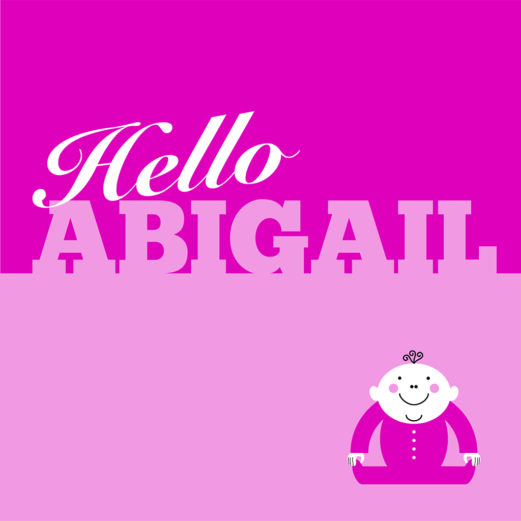 Hello Abigail Card