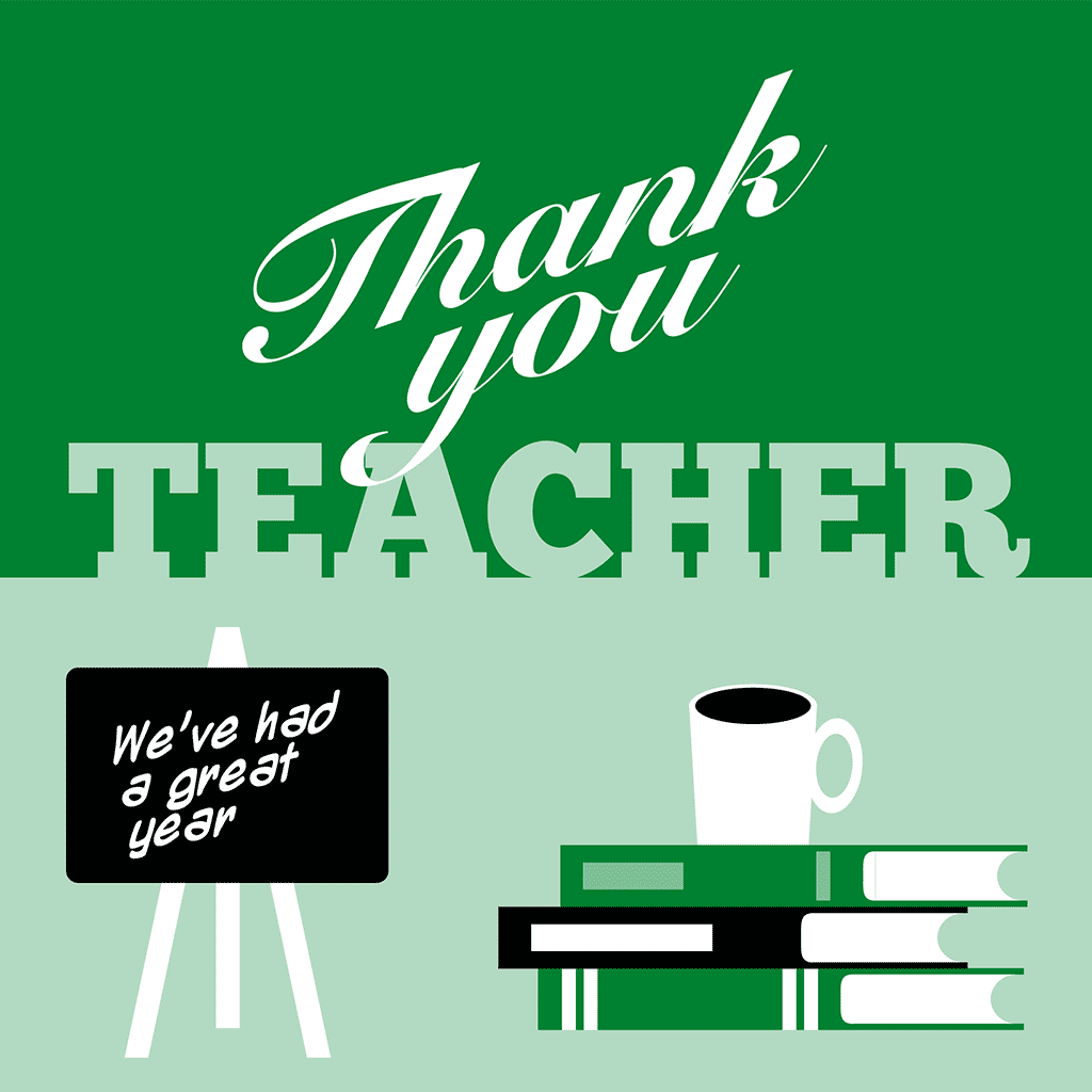 Thank You Teacher Front