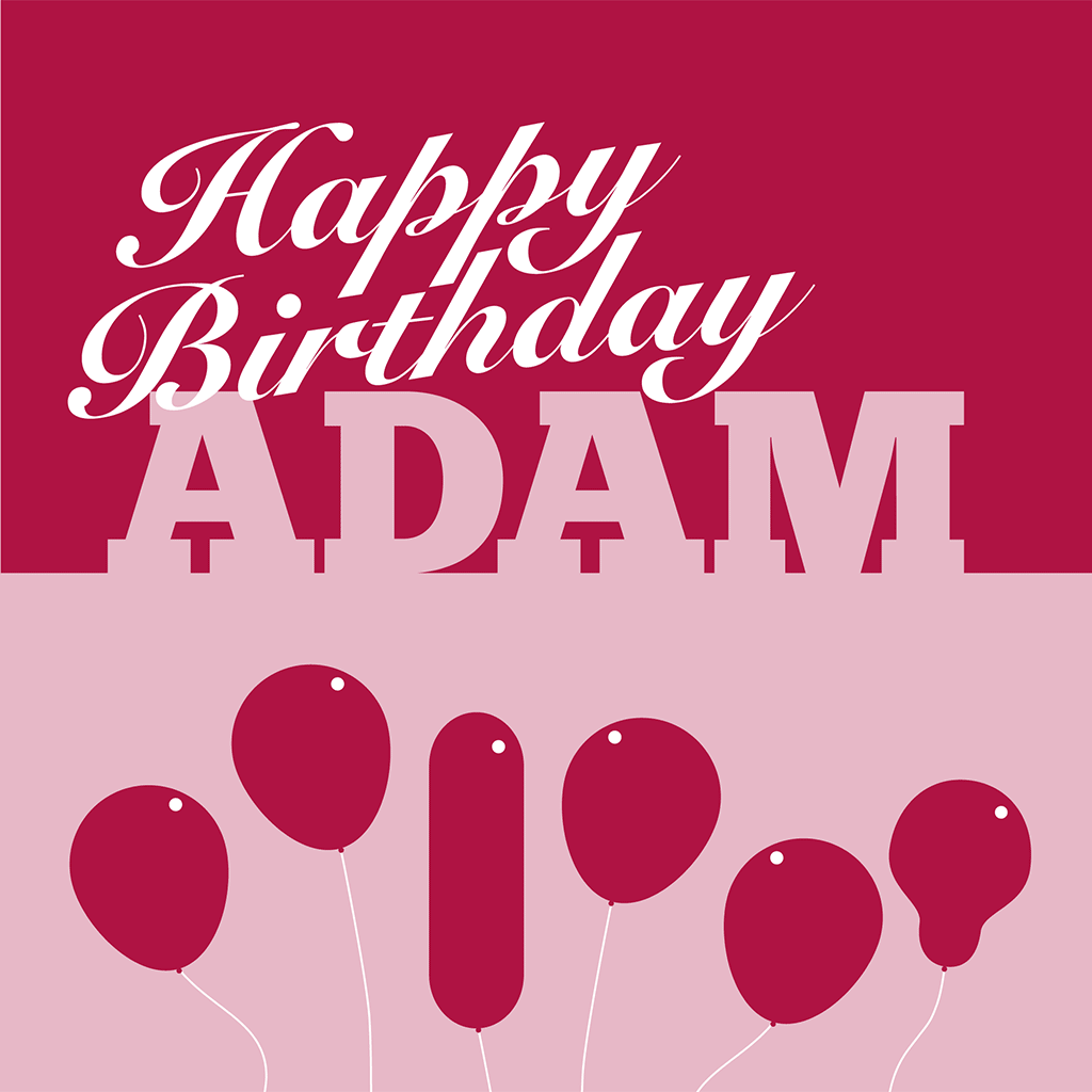 Happy Birthday Adam Card