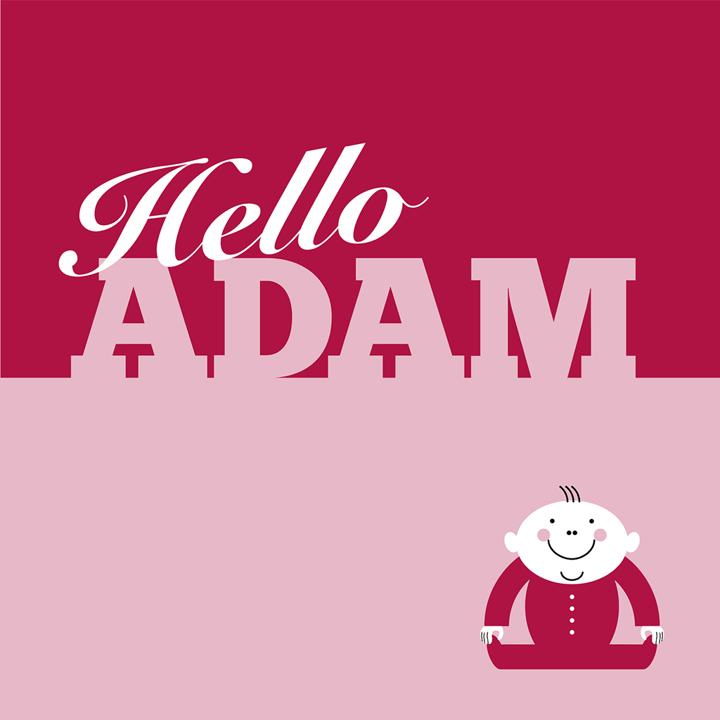 Hello Adam Card