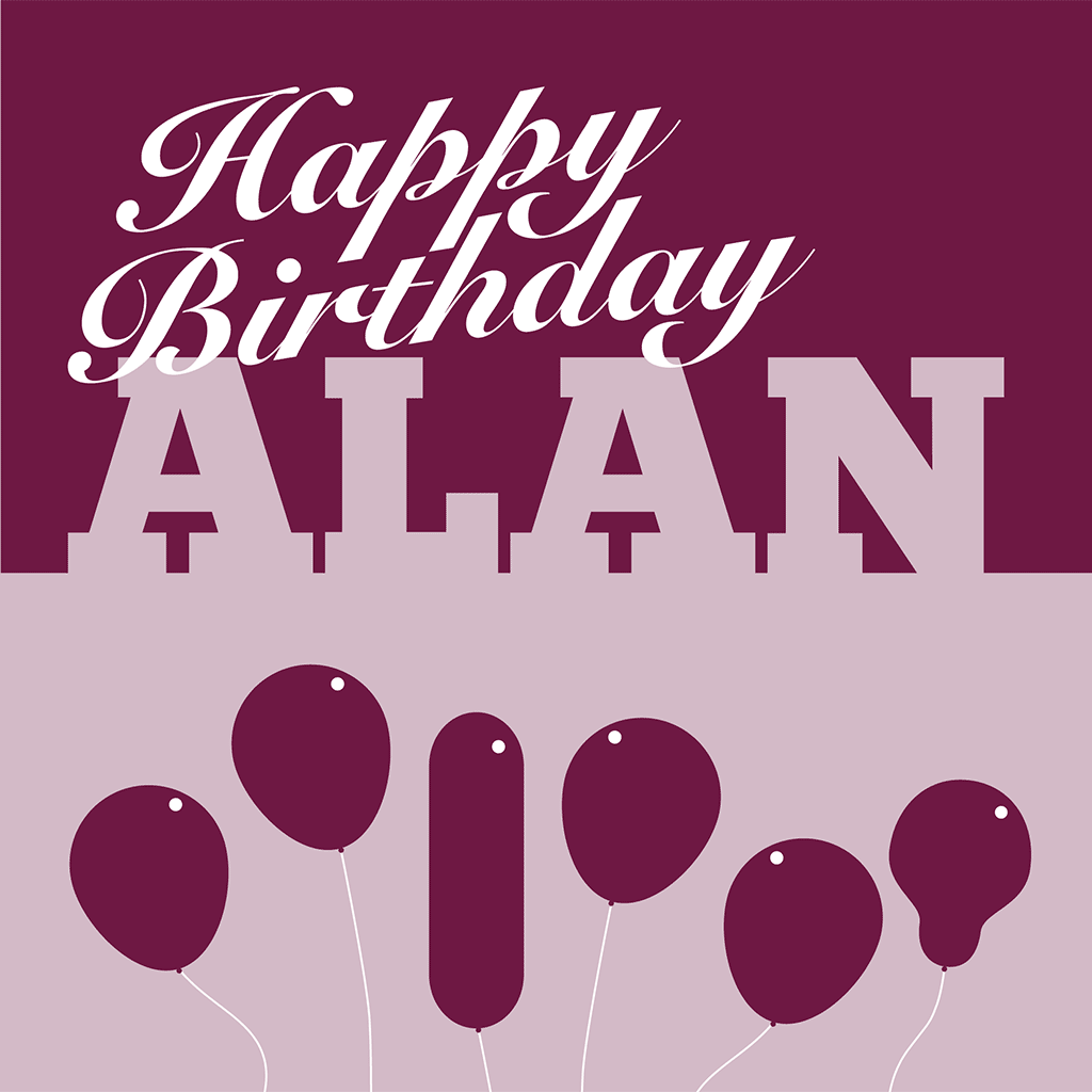 Happy Birthday Alan Card