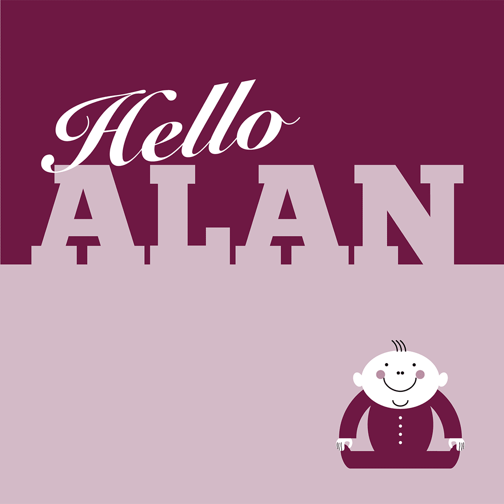 Hello Alan Card