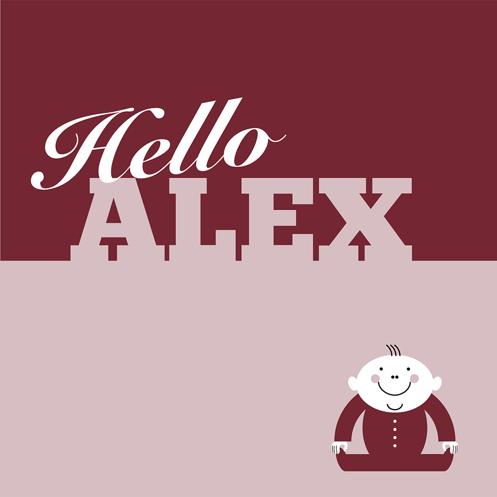 Hello Alex Card