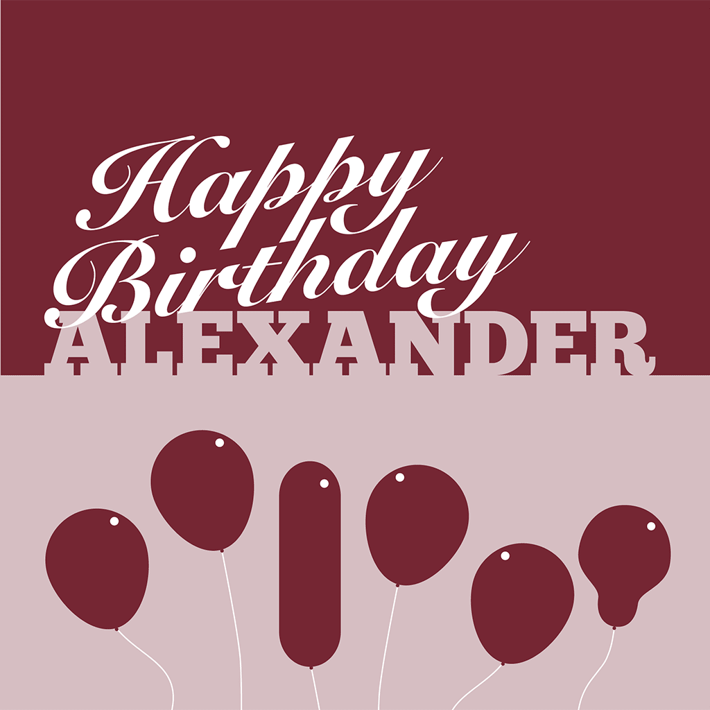 Happy Birthday Alexander Card