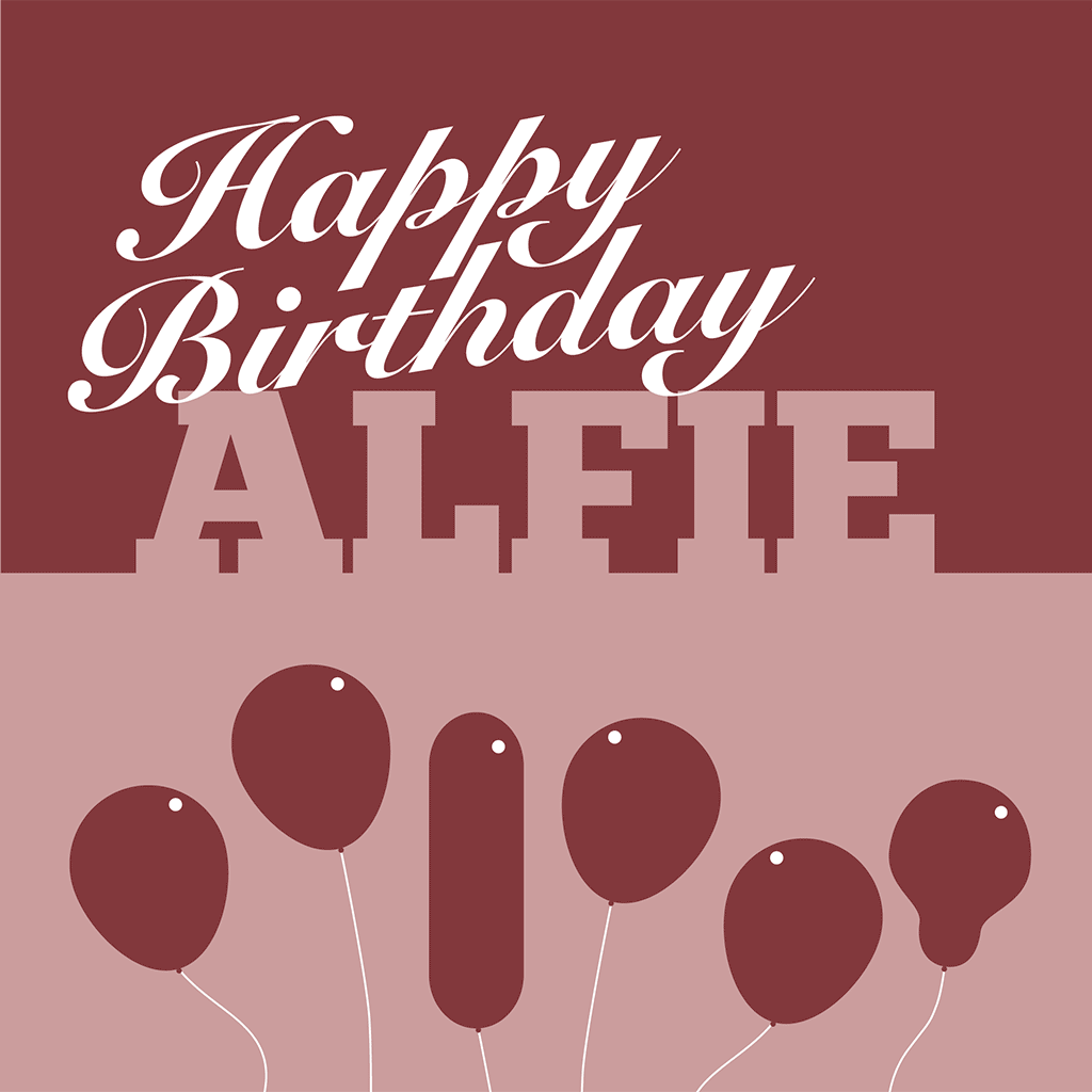 Happy Birthday Alfie Card