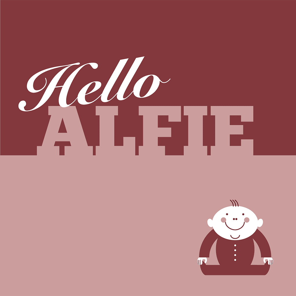 Hello Alfie Card