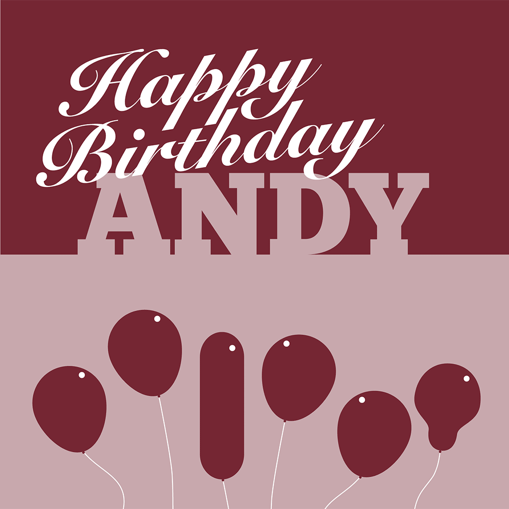 Happy Birthday Andy Card