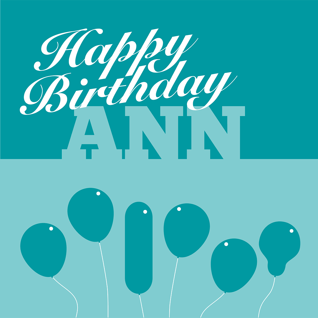 Happy Birthday Ann Card