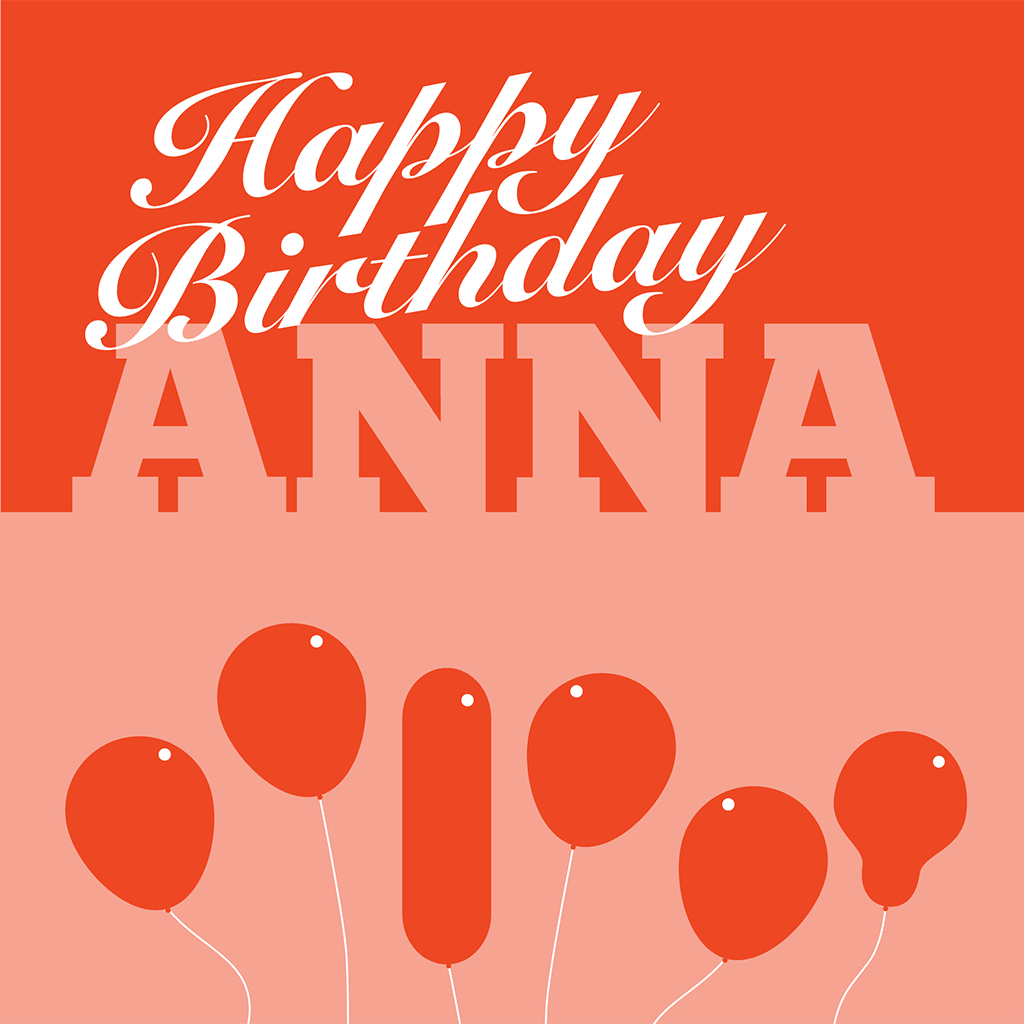 Happy Birthday Anna Card