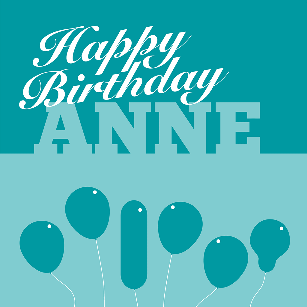 Happy Birthday Anne Card