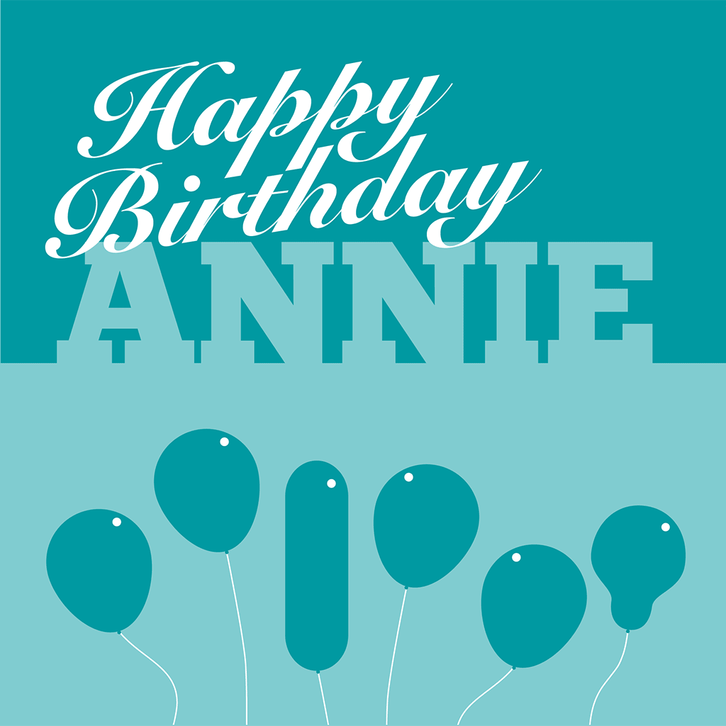 Happy Birthday Annie Card