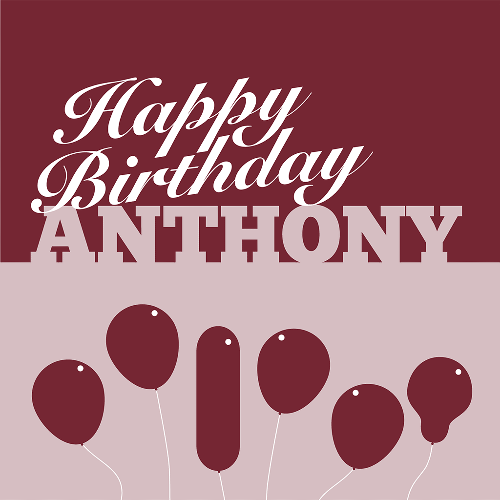 Happy Birthday Anthony Card