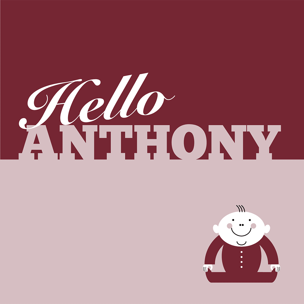 Hello Anthony Card