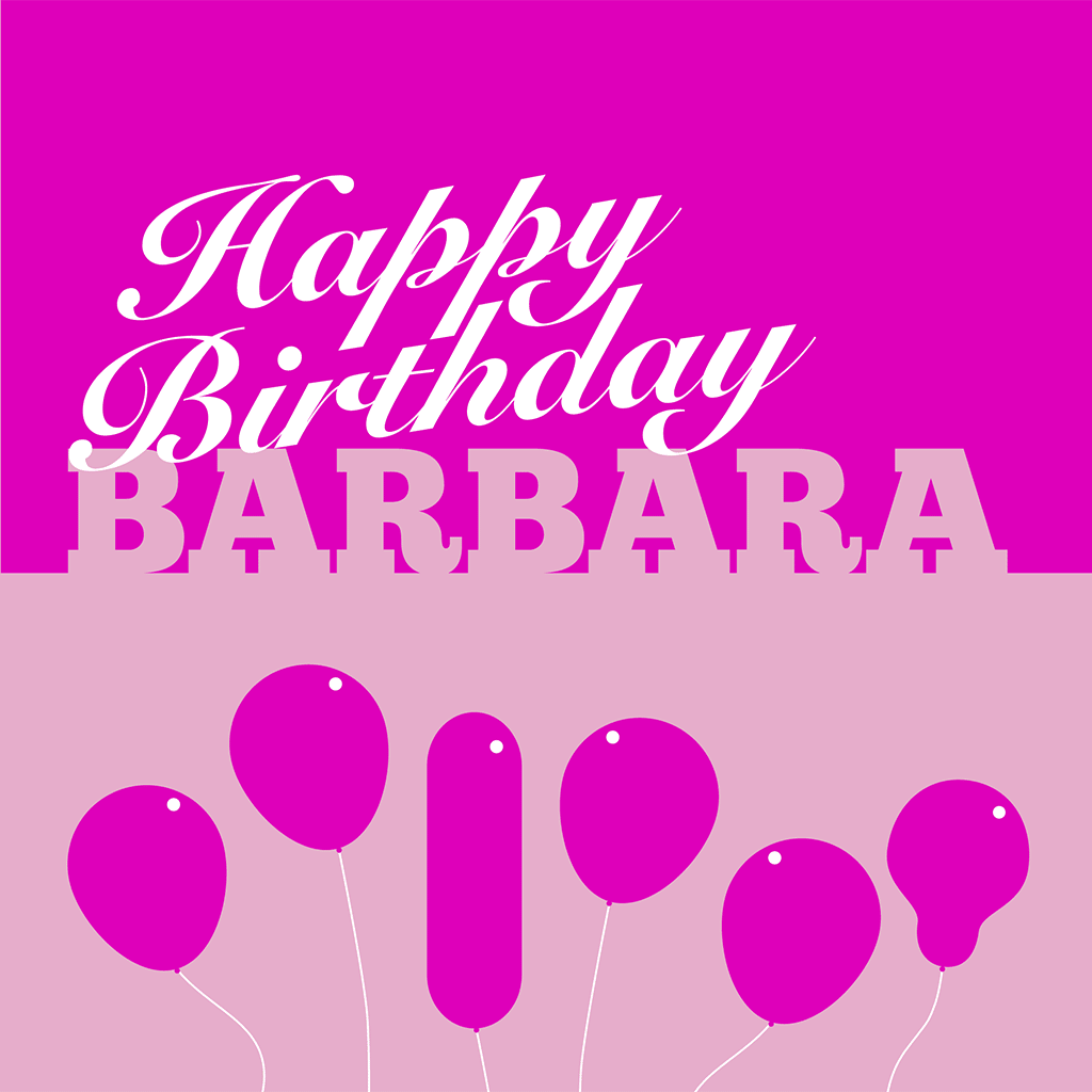 Happy Birthday Barbara Card