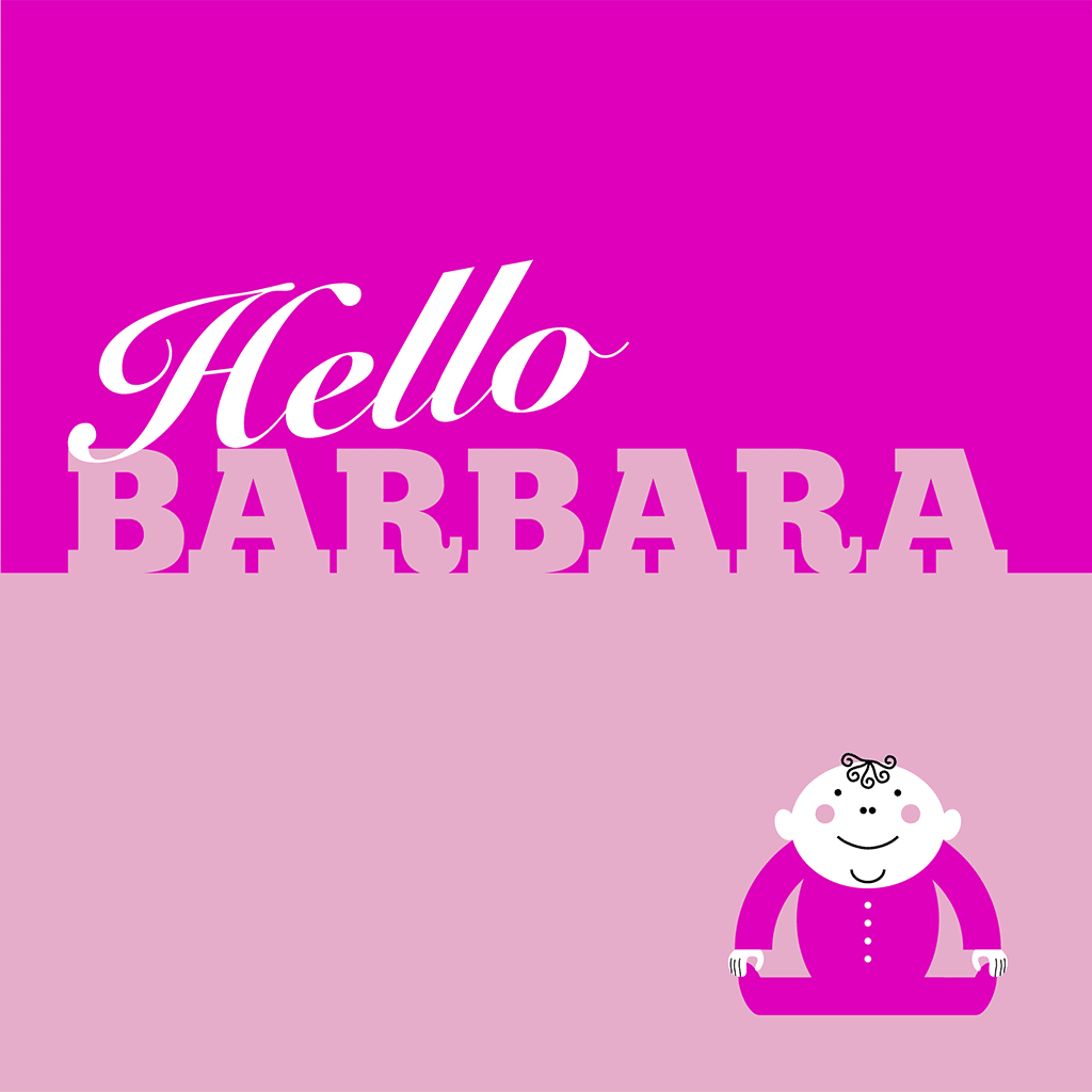 Hello Barbara Card