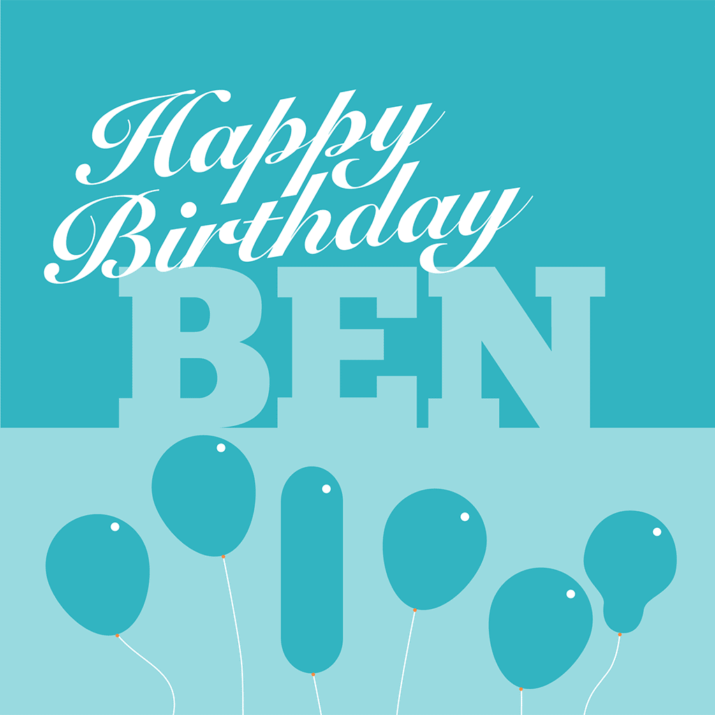 Happy Birthday Ben Card
