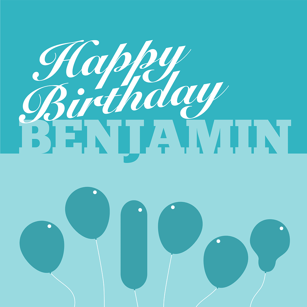 Happy Birthday Benjamin Card