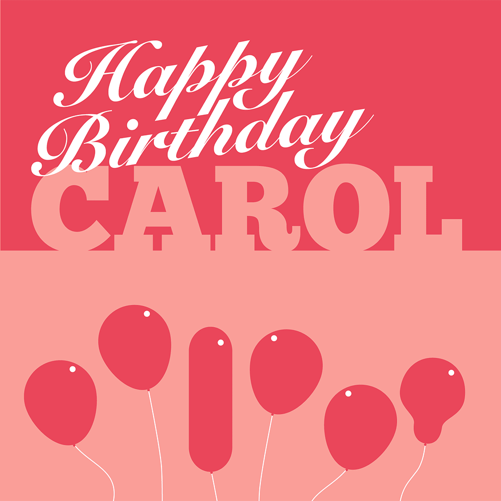 Happy Birthday Carol Card