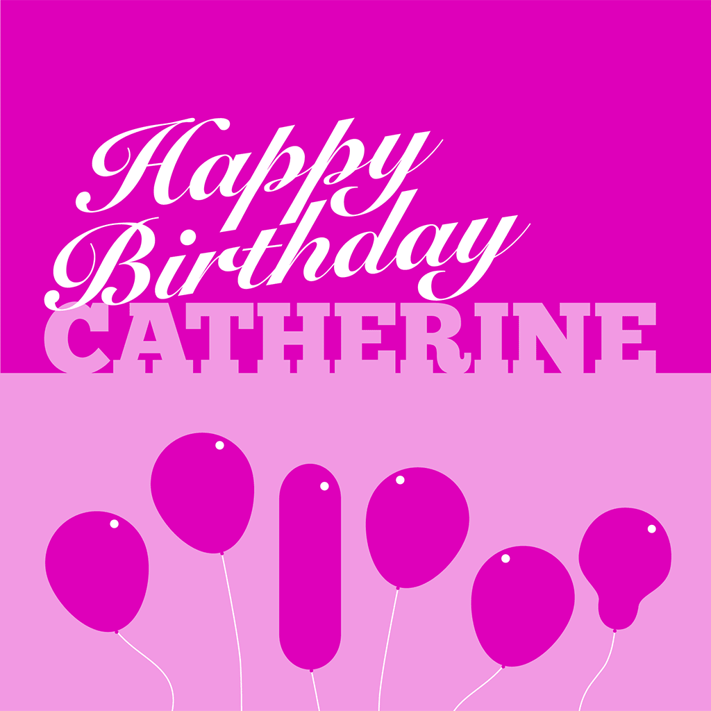 Happy Birthday Catherine Card
