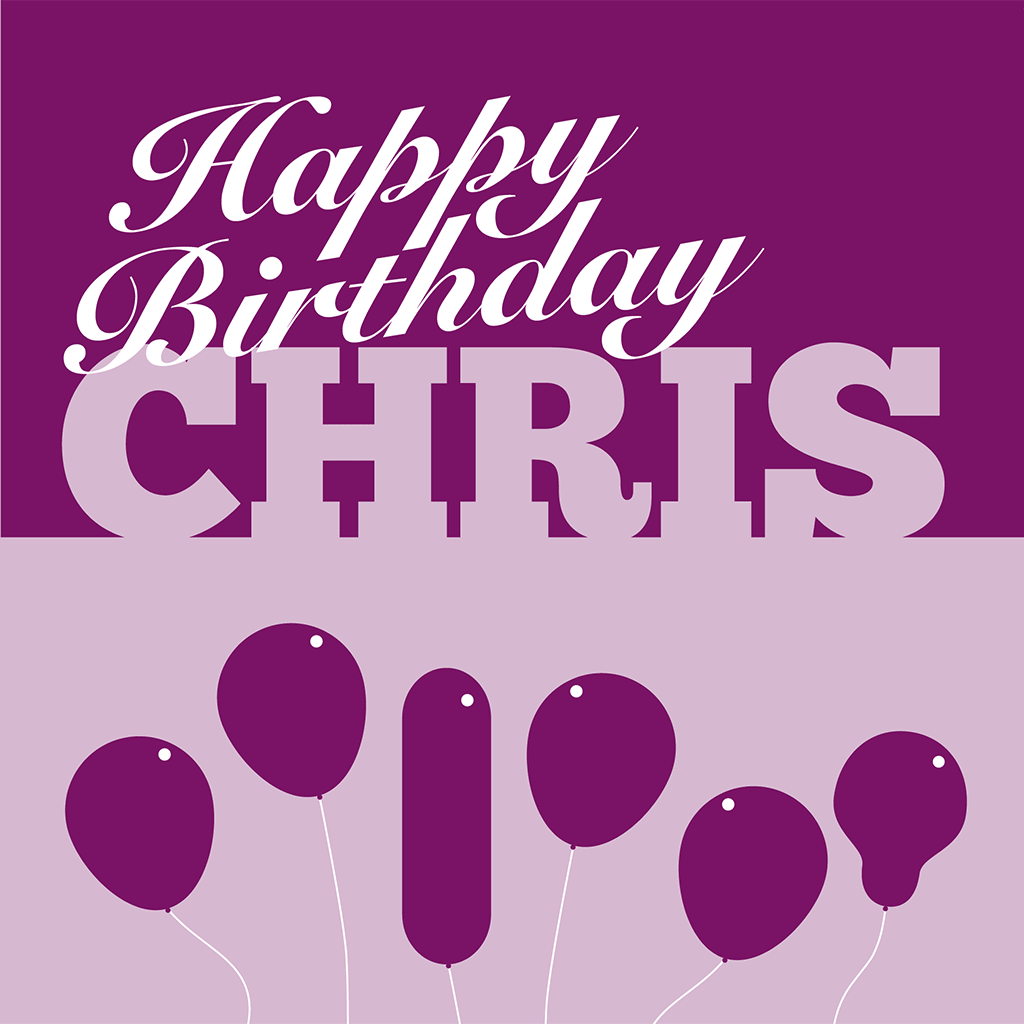 Happy Birthday Chris Card