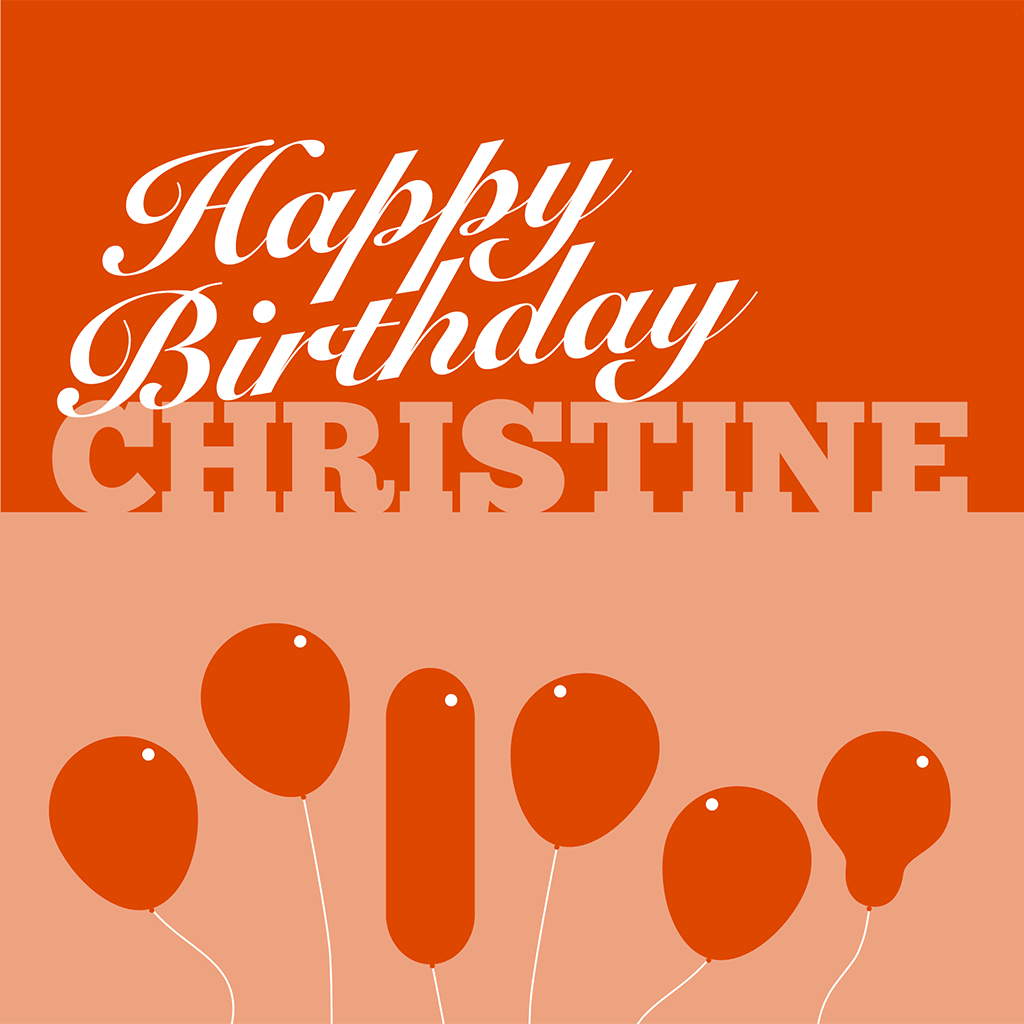 Happy Birthday Christine Card