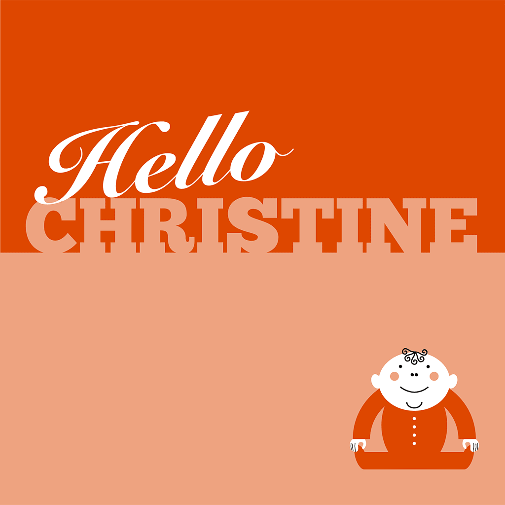 Hello Christine Card