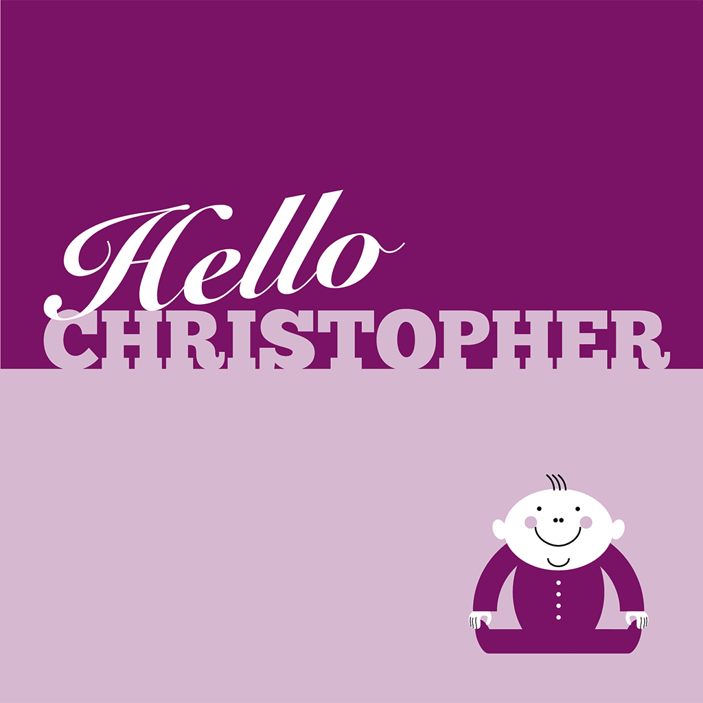 Hello Christopher Card
