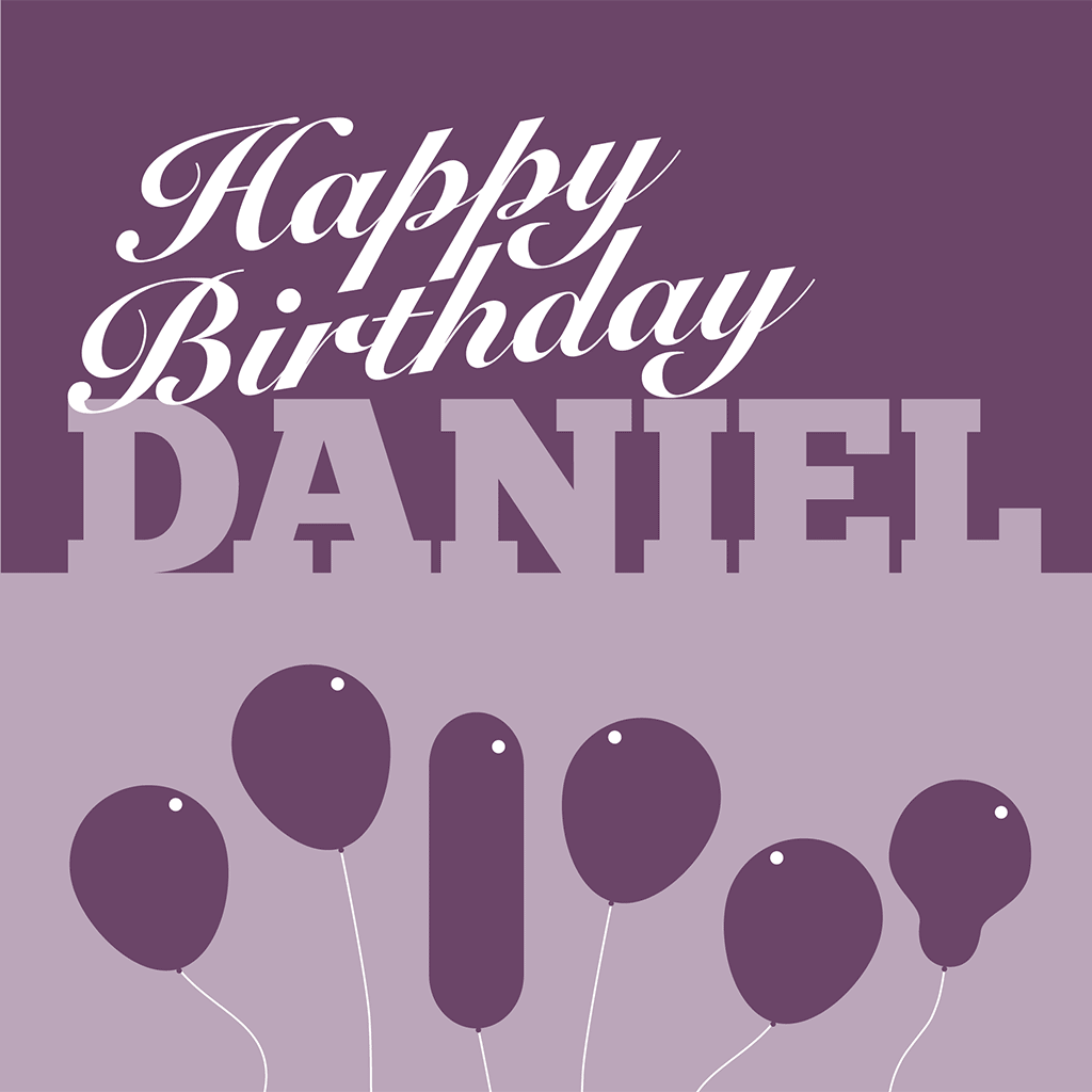 Happy Birthday Daniel Card