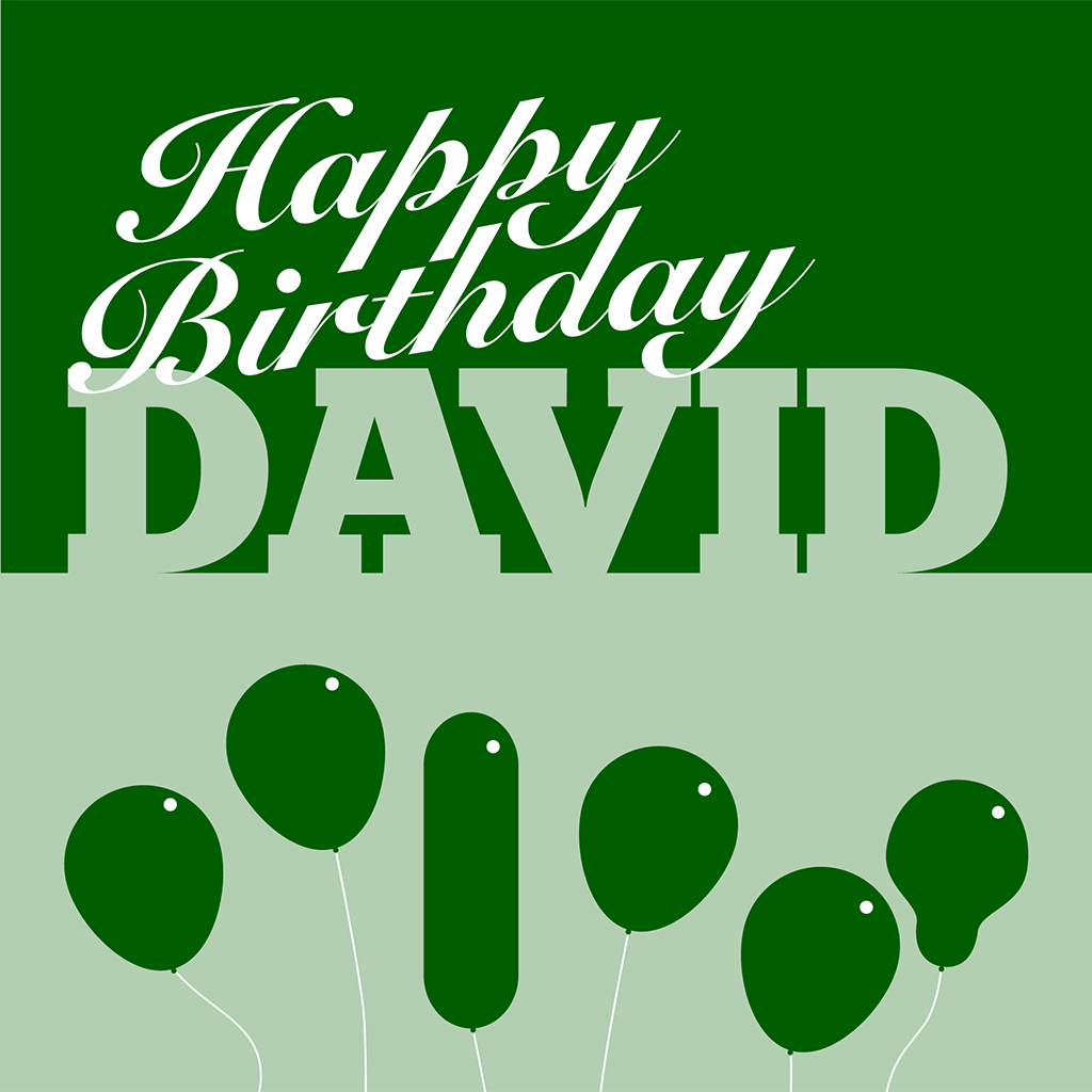 Happy Birthday David Card