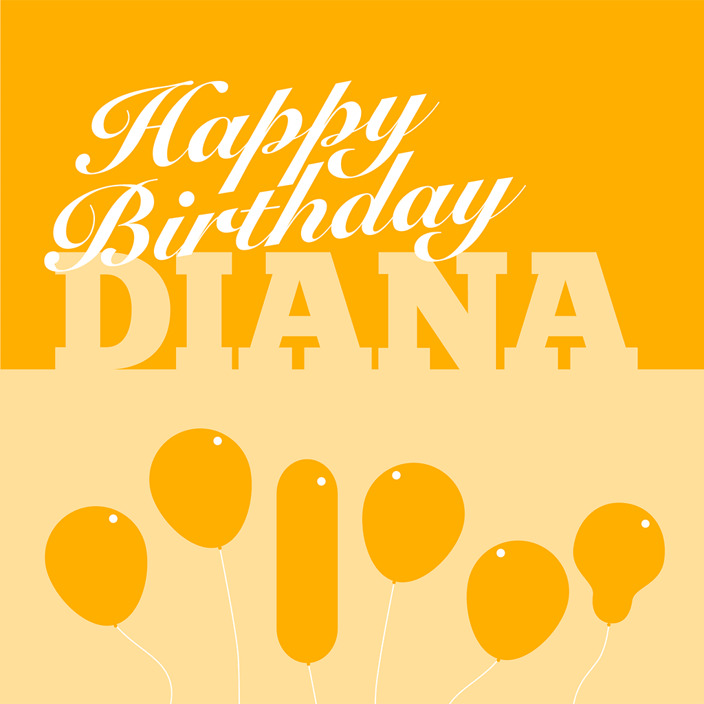Happy Birthday Diana Card