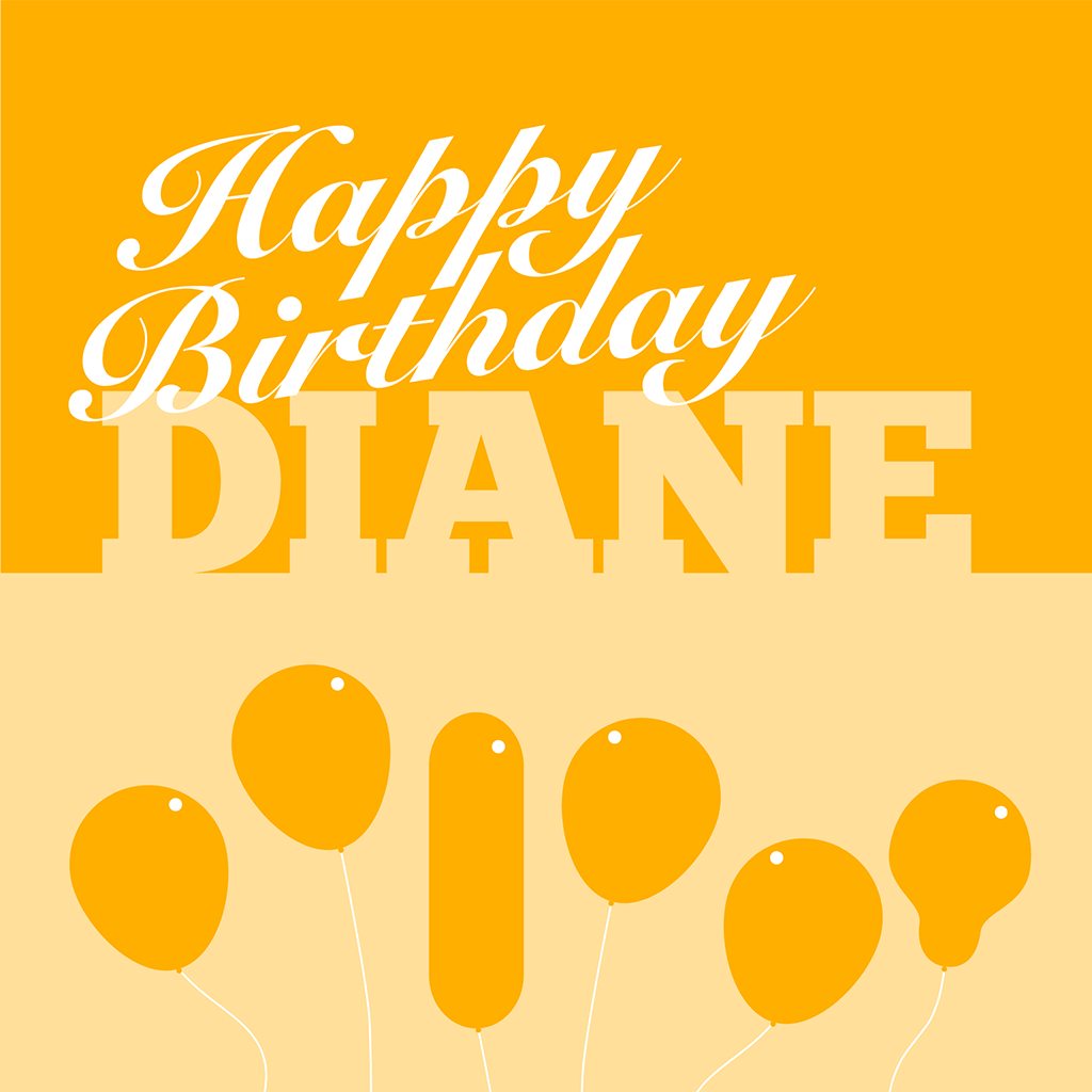 Happy Birthday Diane Card