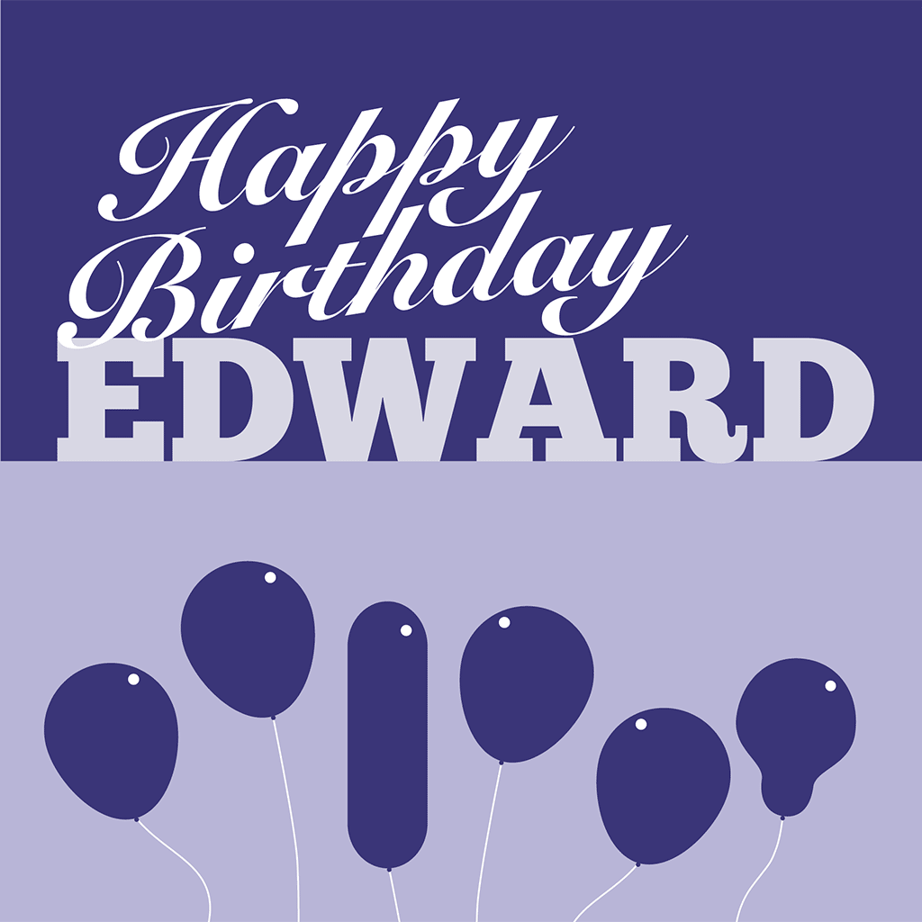 Happy Birthday Edward Card