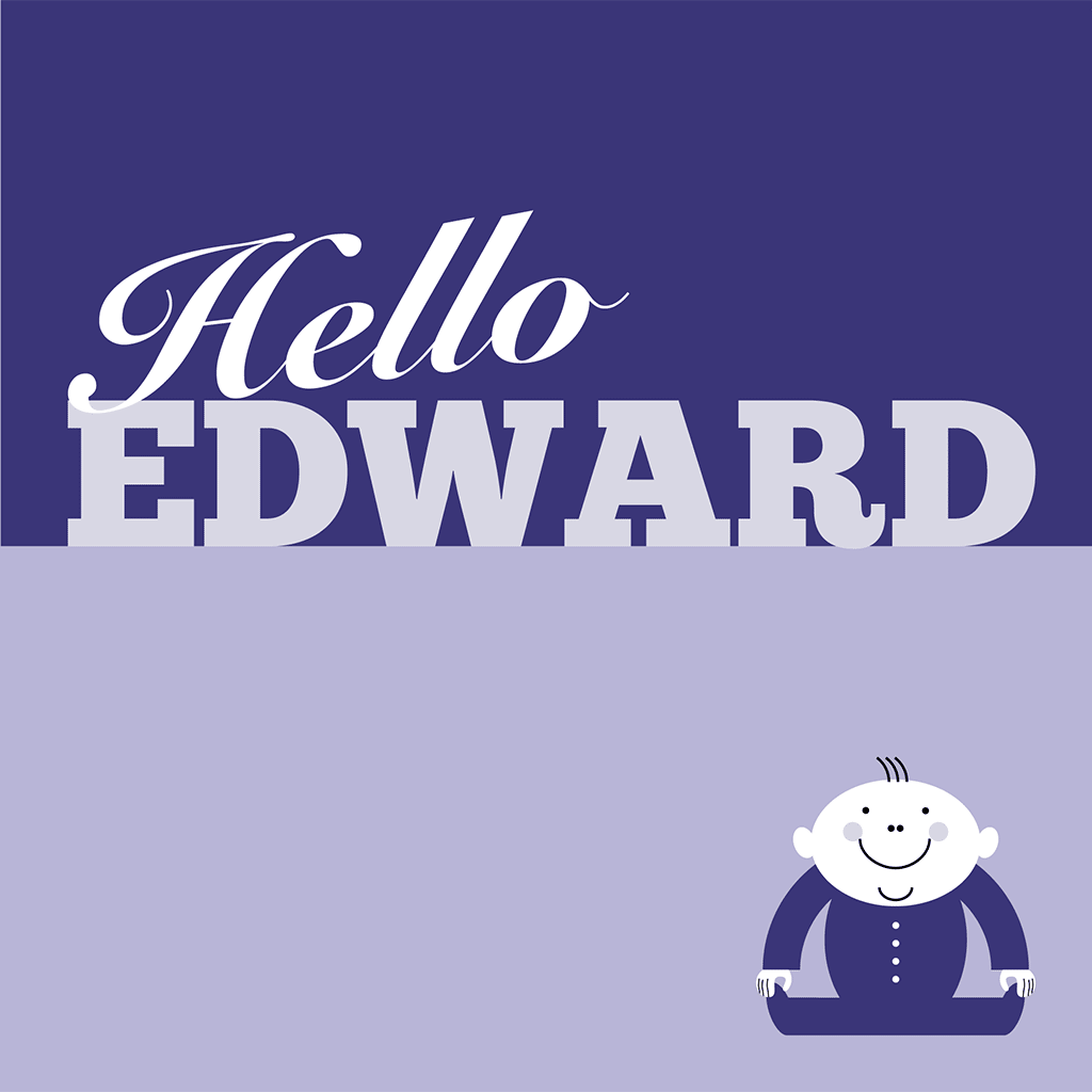 Hello Edward Card