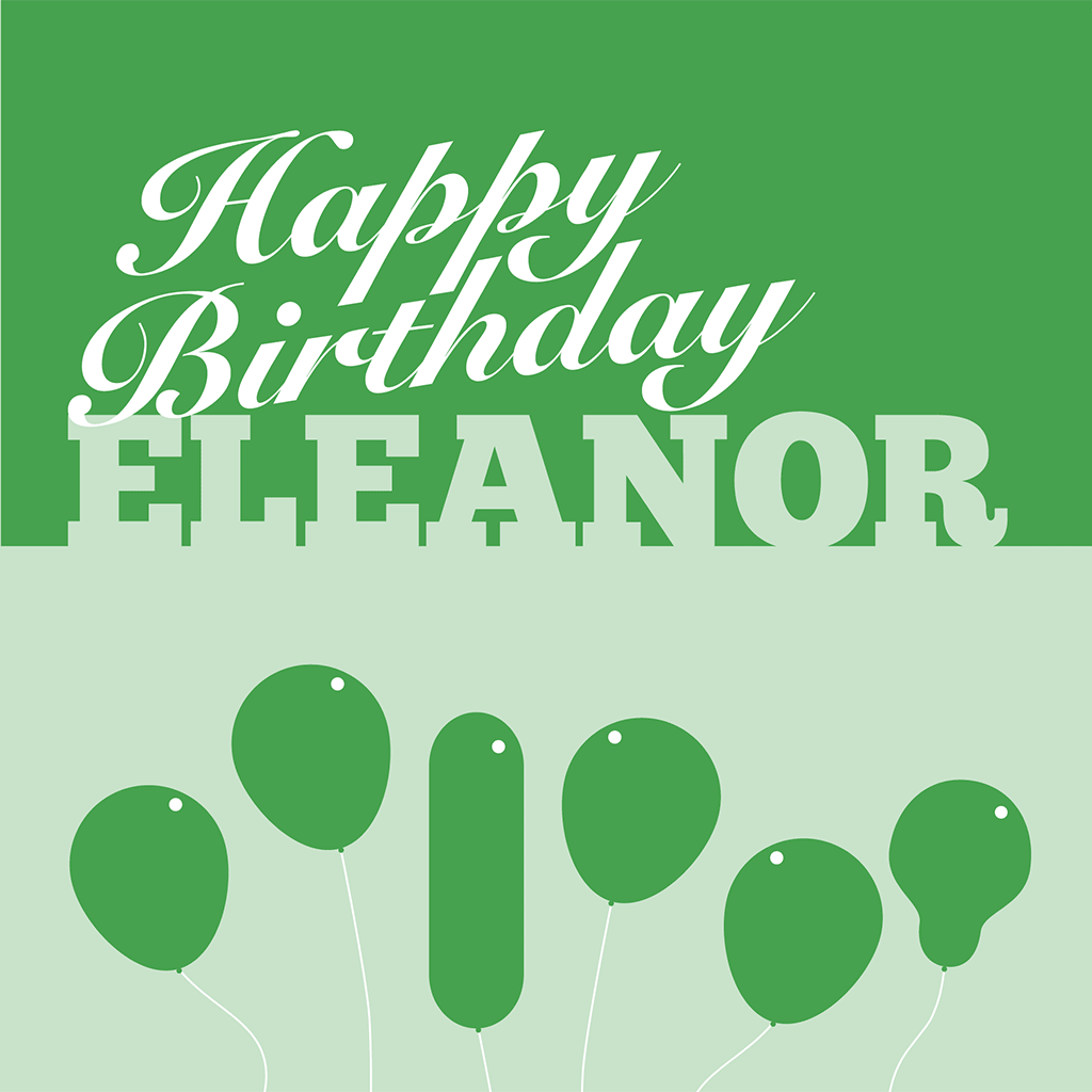 Happy Birthday Eleanor Card