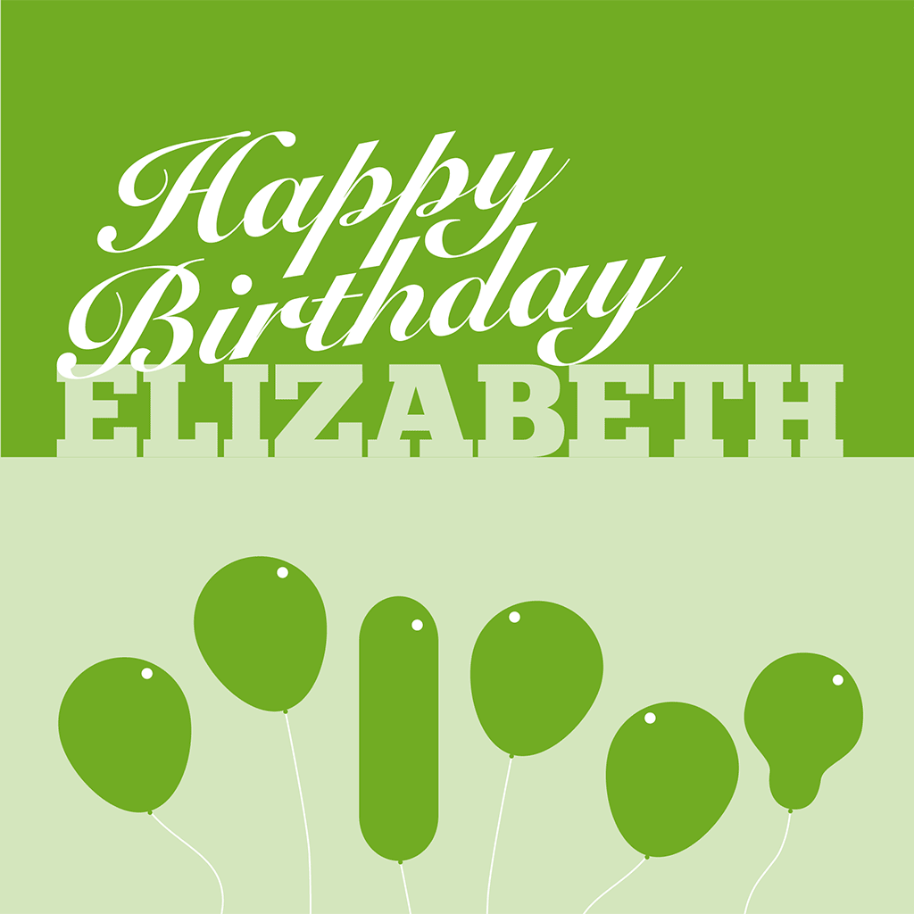Happy Birthday Elizabeth Card