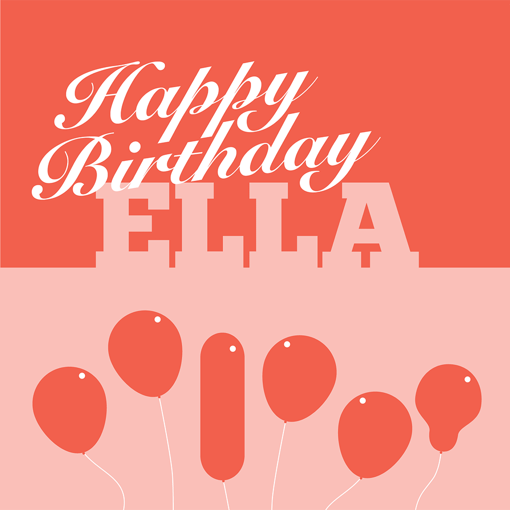 Happy Birthday Ella Card
