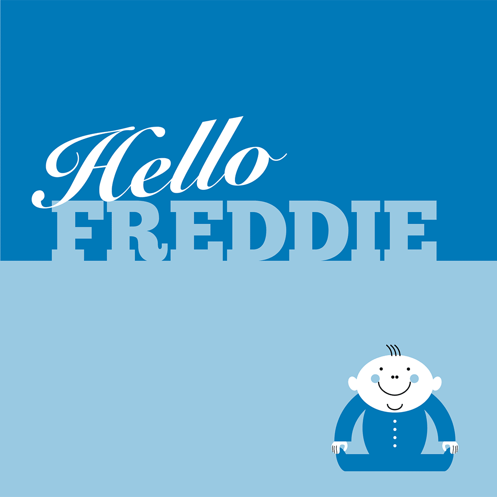 Hello Freddie Card