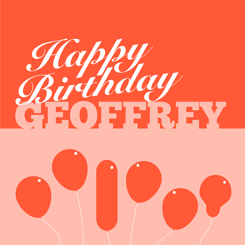Happy Birthday Geoffrey Card