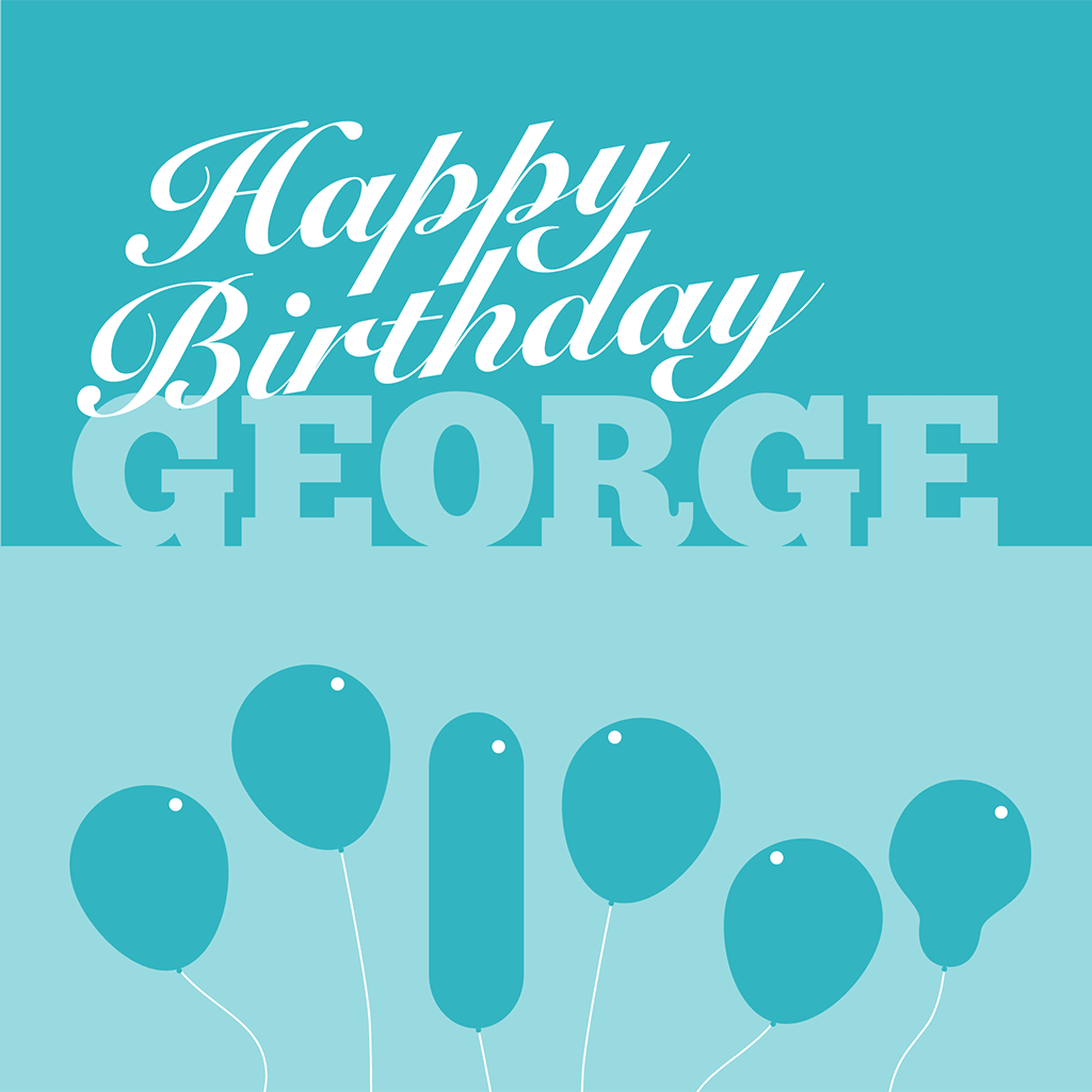 Happy Birthday George Card