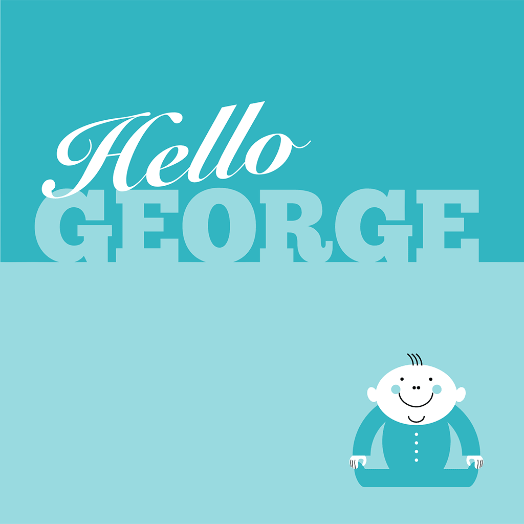 Hello George Card