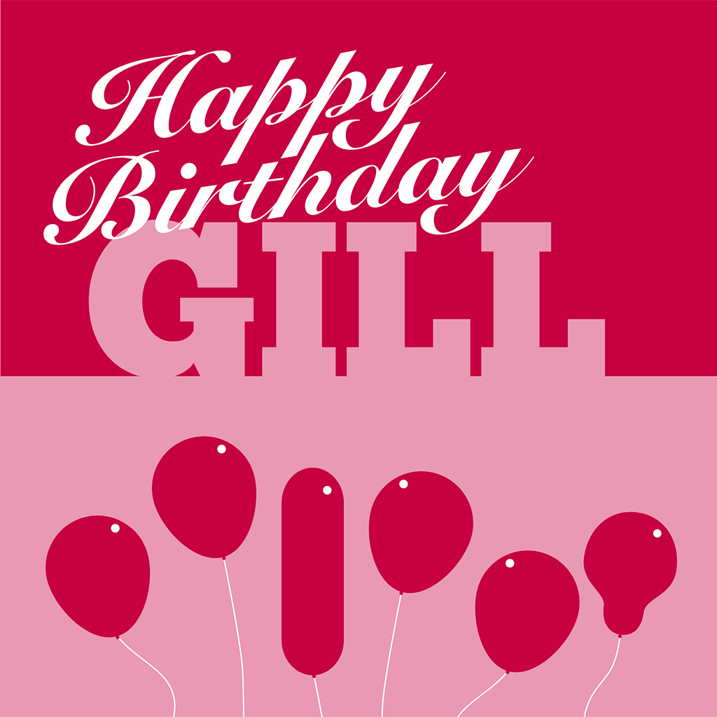 Happy Birthday Gill Card