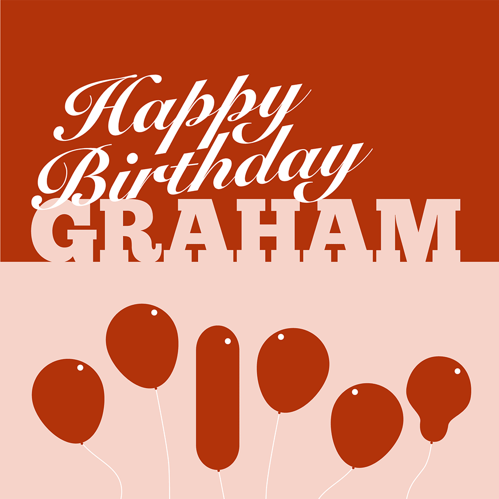 Happy Birthday Graham Card