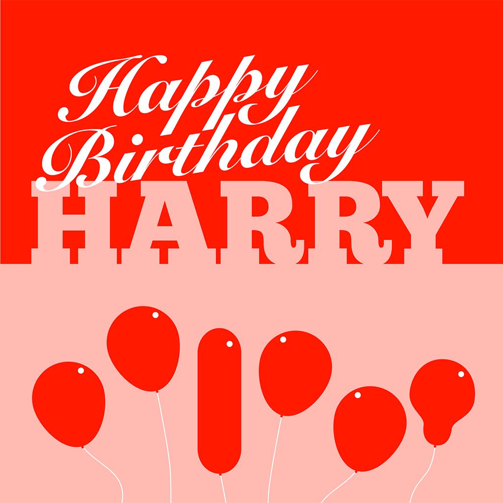 Happy Birthday Harry Card