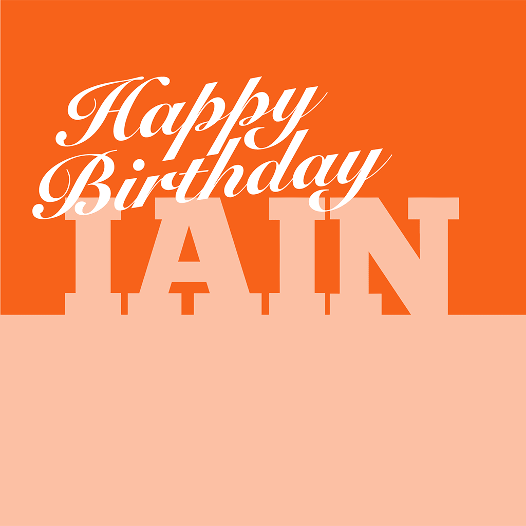 Happy Birthday Iain Card