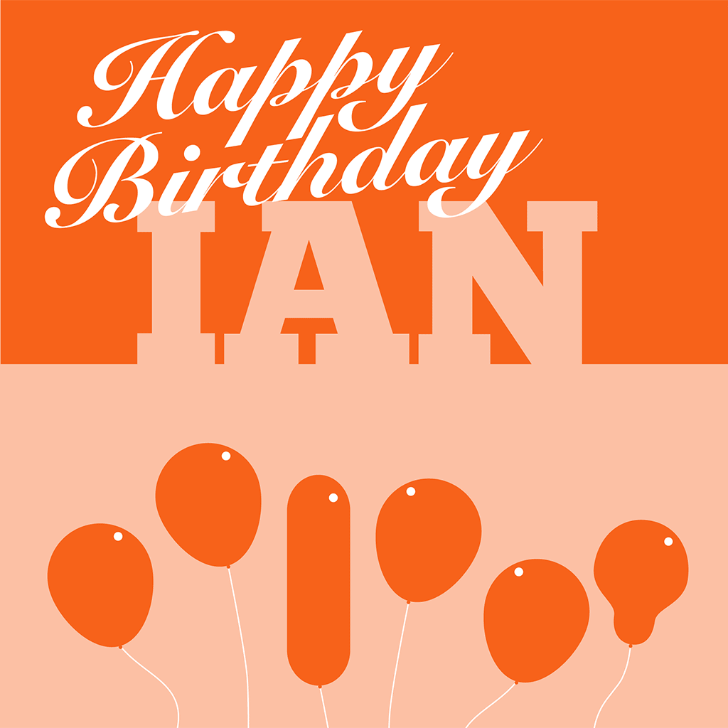 Happy Birthday Ian Card