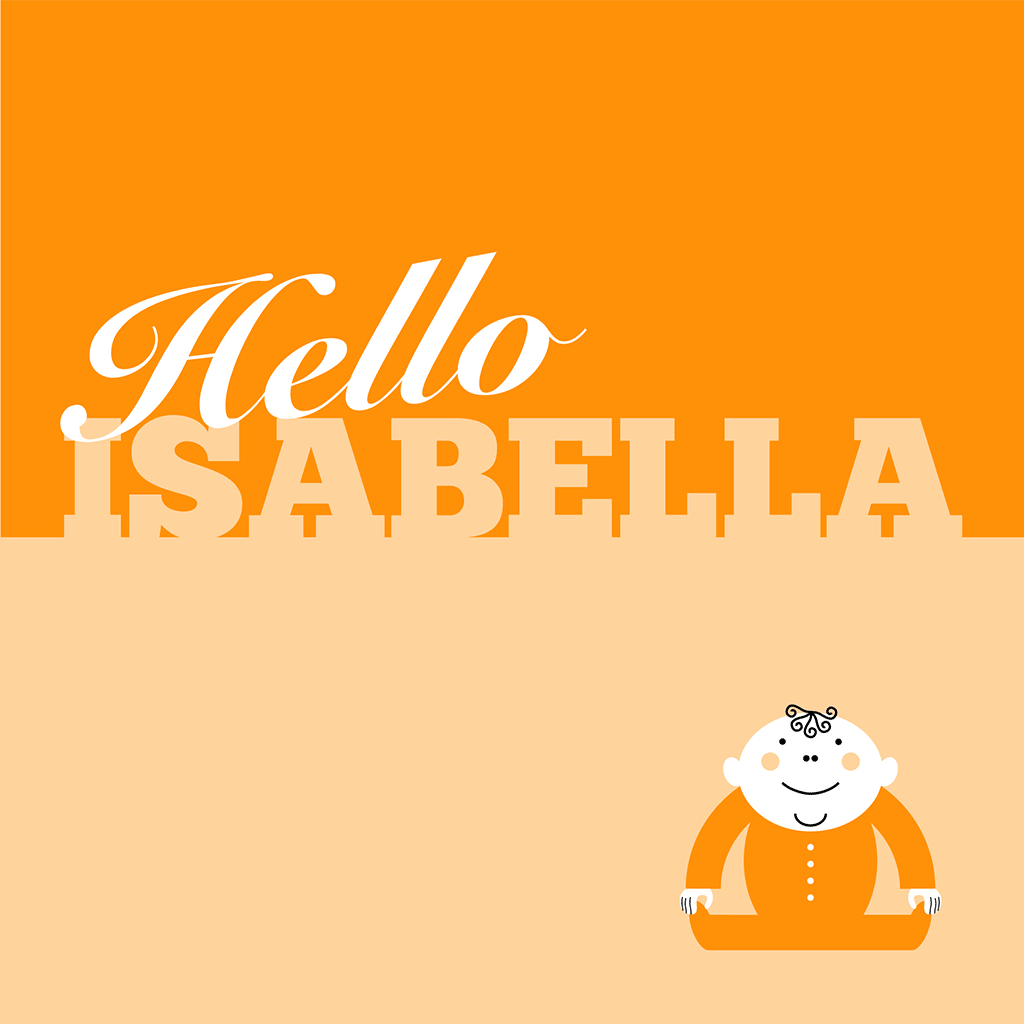 Hello Isabella Card