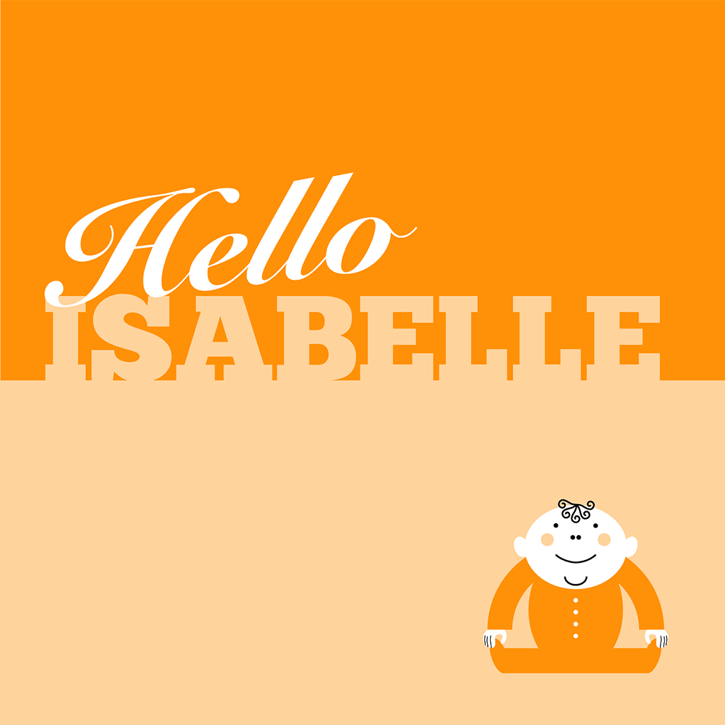 Hello Isabelle Card