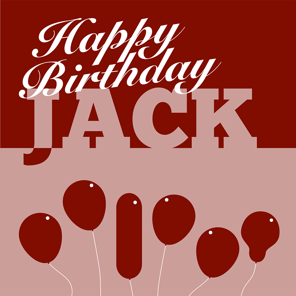 Happy Birthday Jack Card